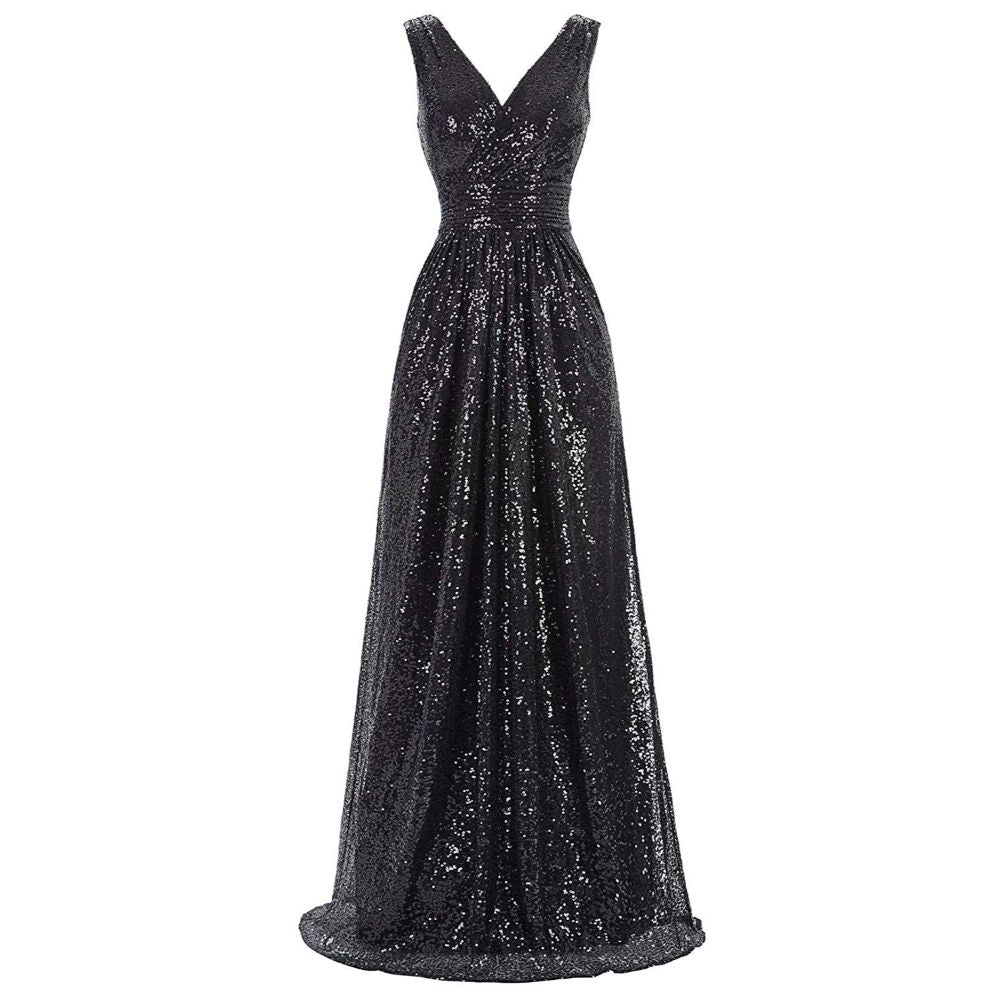 Women's Sequin Sleeveless Bridesmaid Dress