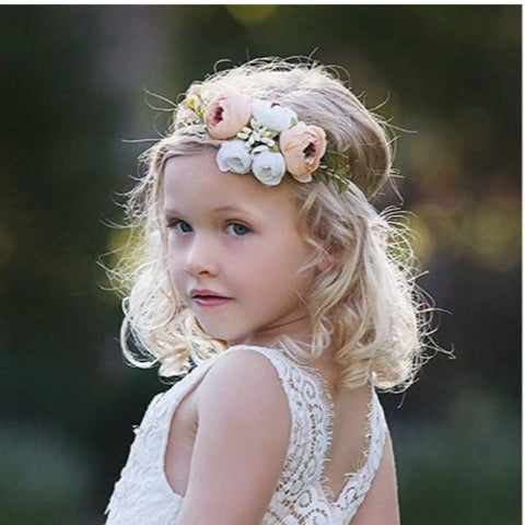 Image of Baby Girl Floral Headbands Set - 3pcs Flower Crown