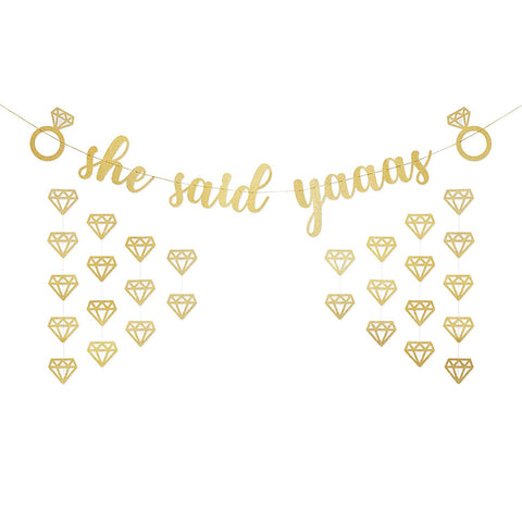 "Image of ""She Said Yaaas"" Bachelorette Party Banner"