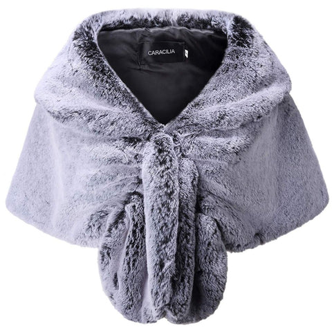 Faux Fur Winter Bridal Shawl Wrap