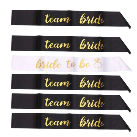 Image of Bride to Be & Bridesmaid Bachelorette Party Sash Set