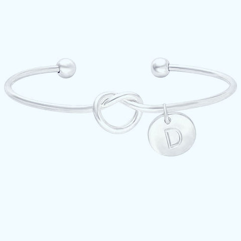 Image of Bridesmaid Initial Letter Wedding Gift Bracelet