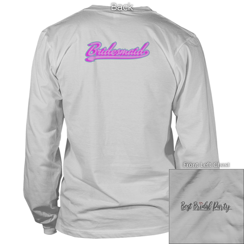 Image of Bridesmaid Back Design Apparel