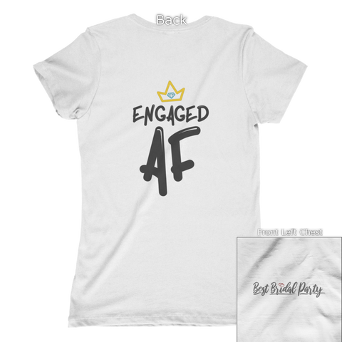 Image of Engaged AF With Crown Back Design Apparel
