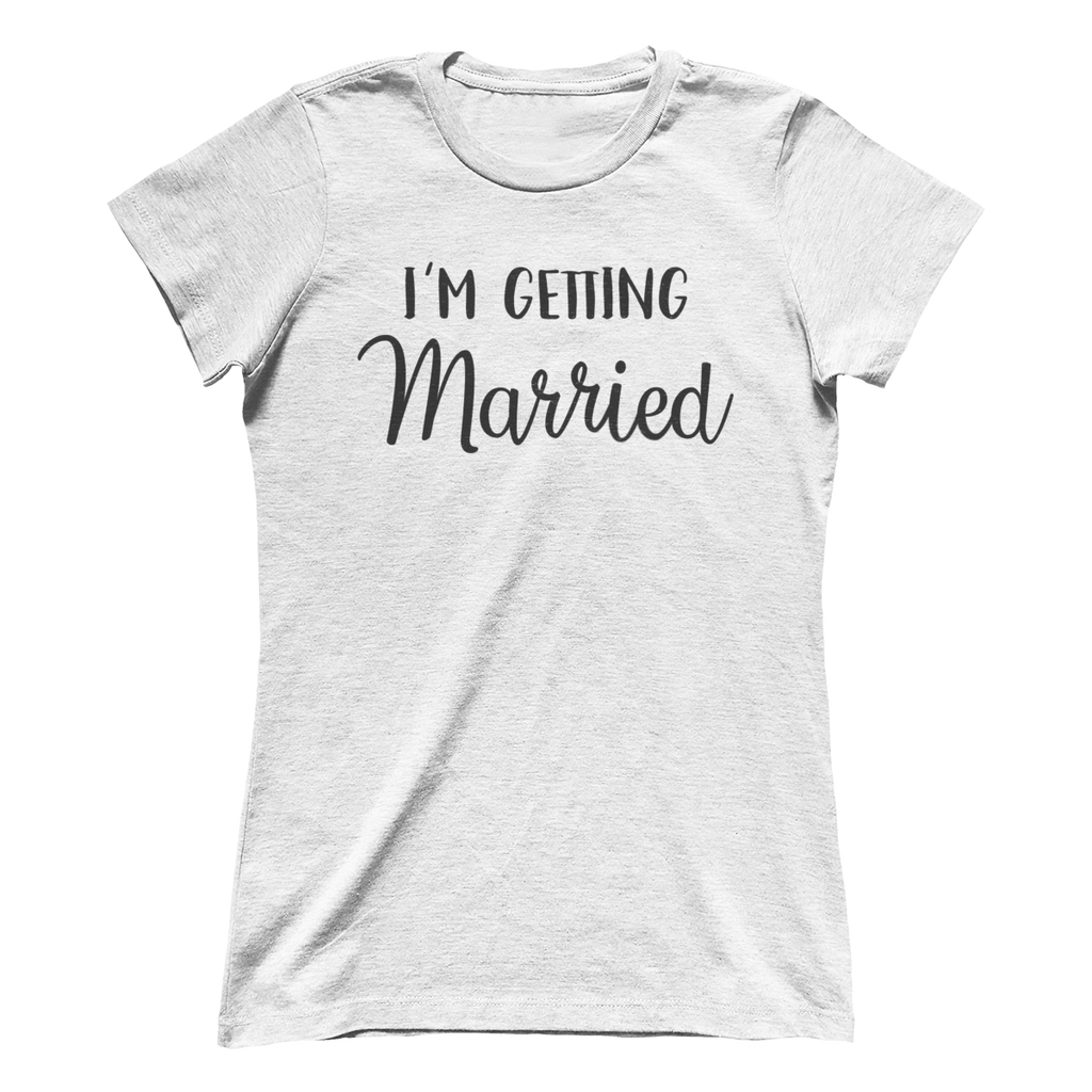 I'm Getting Married White Crew Tee