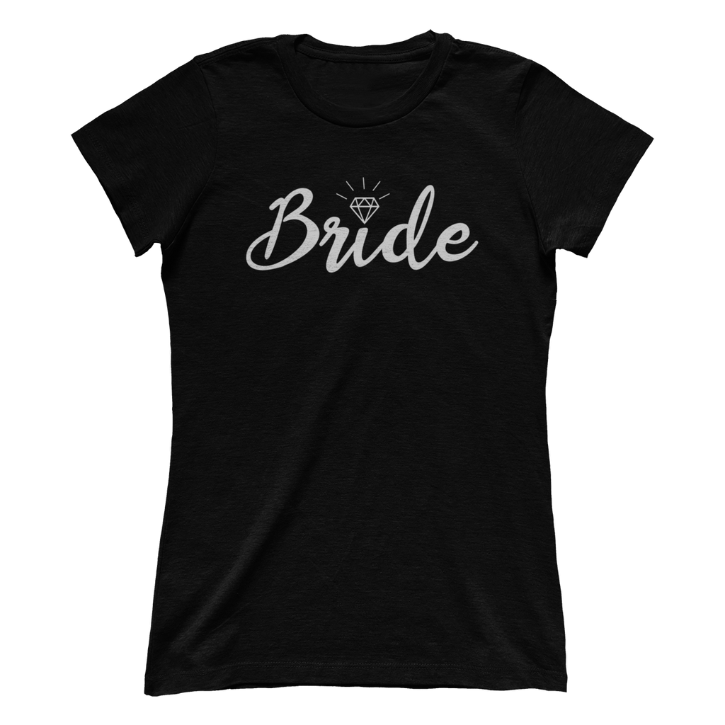 Bride With Diamond Black Crew Tee