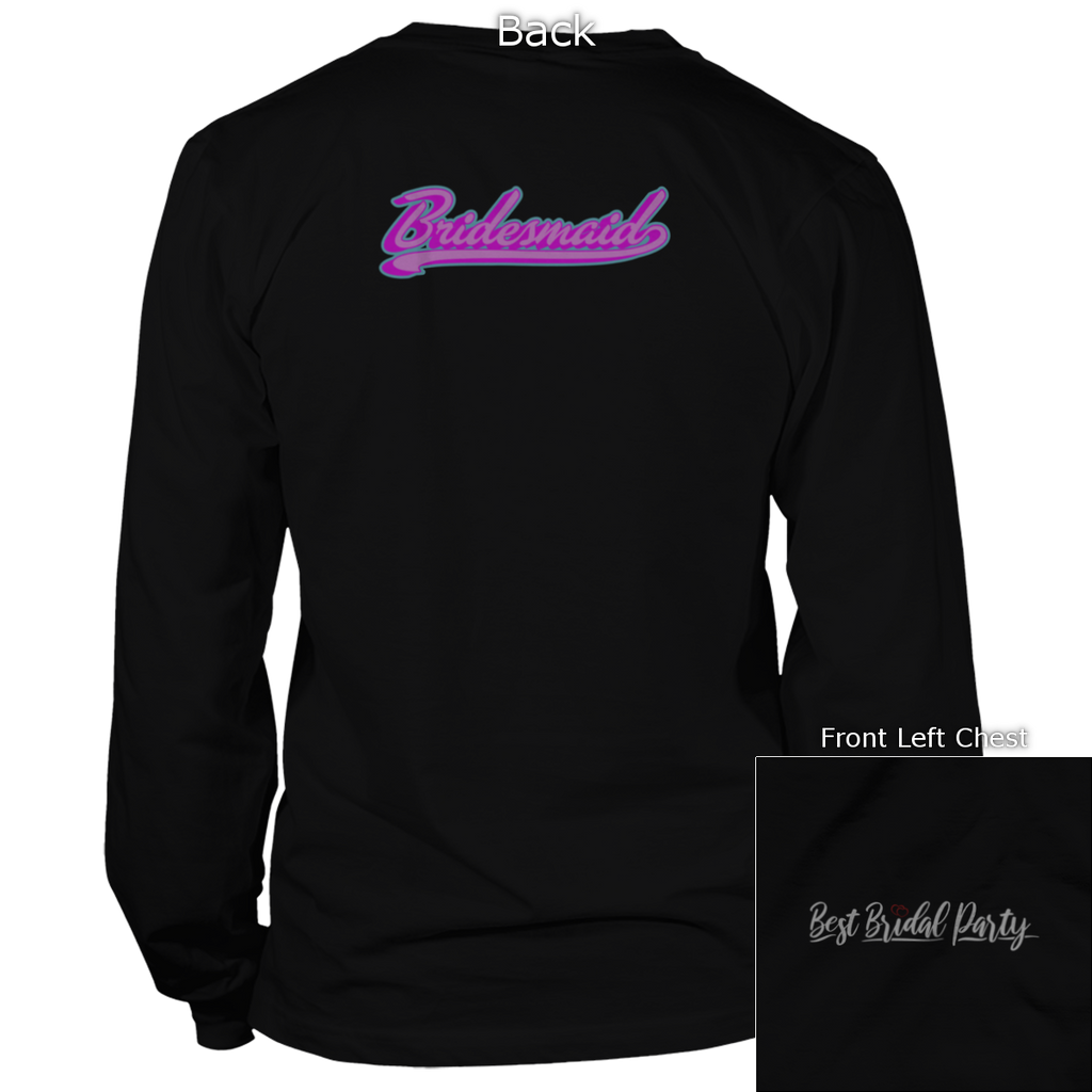 Bridesmaid Back Design Apparel