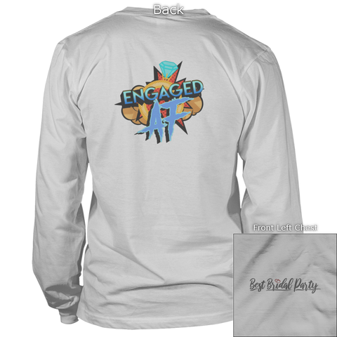Image of Engaged AF Back Design Apparel