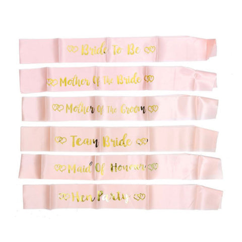 Bride to Be & Bridesmaid Bachelorette Party Sash Set