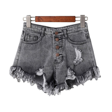 Bottoms Useful New Arrival Casual Summer 2019 Hot Sale Denim Women Shorts High Waists A-lined Leg-openings Black Sexy Short Jeans