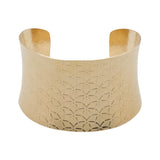Bracelet-Textured Anticlastic Gold Cuff Bracelet