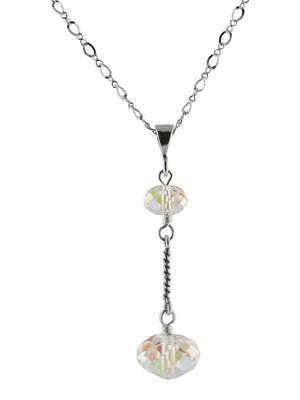 Twined Bar Crystal Necklace - Aniks Creative Designs