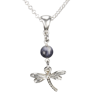 Sterling Silver Dragonfly Necklace Handcrafted Jewelry Soladite Pendant Necklace