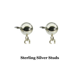 Sterling Silver Dragonfly Earrings Handcrafted Jewelry Pearl Drop Earrings