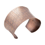 Bracelet-Textured Anti-clastic Copper Cuff Bracelet