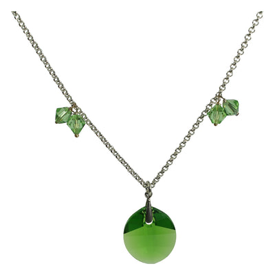 faceted leaf necklace