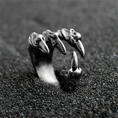 Silver Dragon Claw Ring
