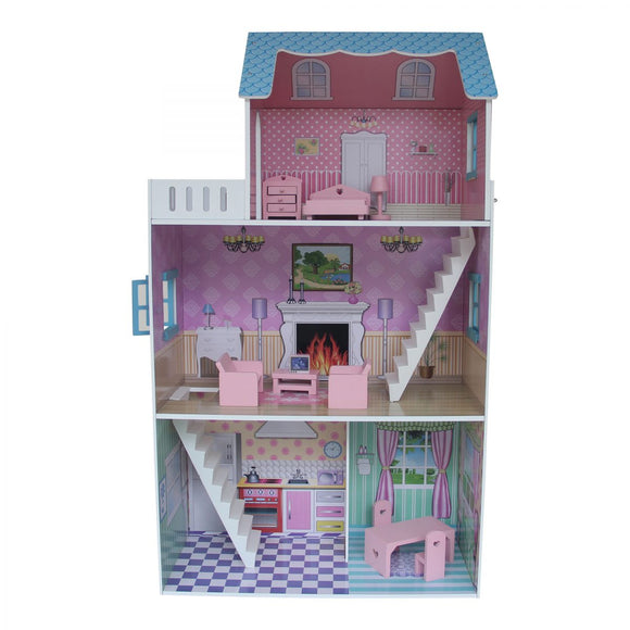 Townhouse Dollhouse with Furniture