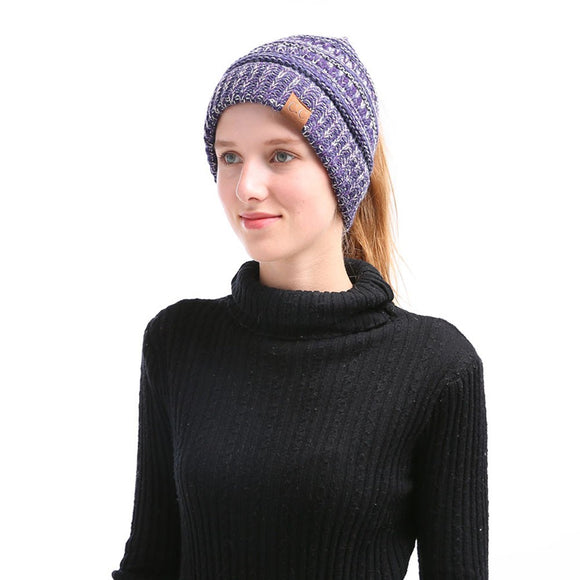 Warm Winter Knitted Beanie Cap For Women