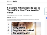 Check out this article from Sarah at Health.com, who shares six of her favorite sleep affirmations excerpted from the book.