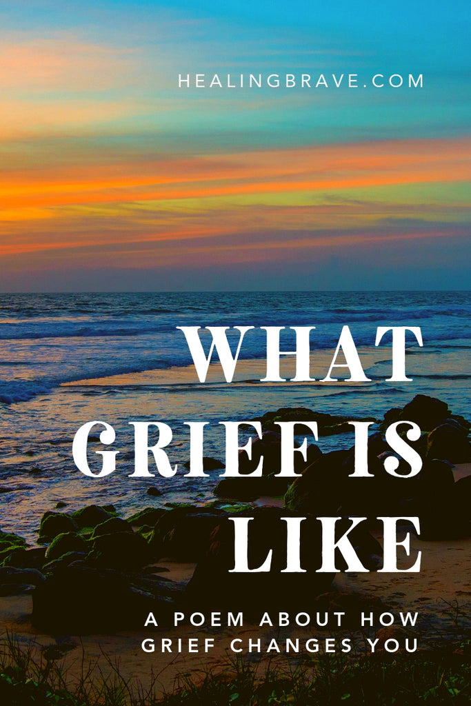 Grief hurts. It can feel like wreckage, like being washed away and remade in a new way. We can label grief as bad, badgering it into being innately wrong when, in fact, it's proof that we've lived and loved. Really lived, really loved. This poem embraces grief as part of LIFE, not just death, and essential to healing.