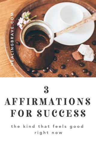 You don't have to wait to see what the outcome looks like to feel successful right here, where you are. Why wouldn't you start planting joy before you harvest it? To help you dig up a little more joy in the journey, play these affirmations for success on repeat in your head. They're from my new book, Morning Affirmations!