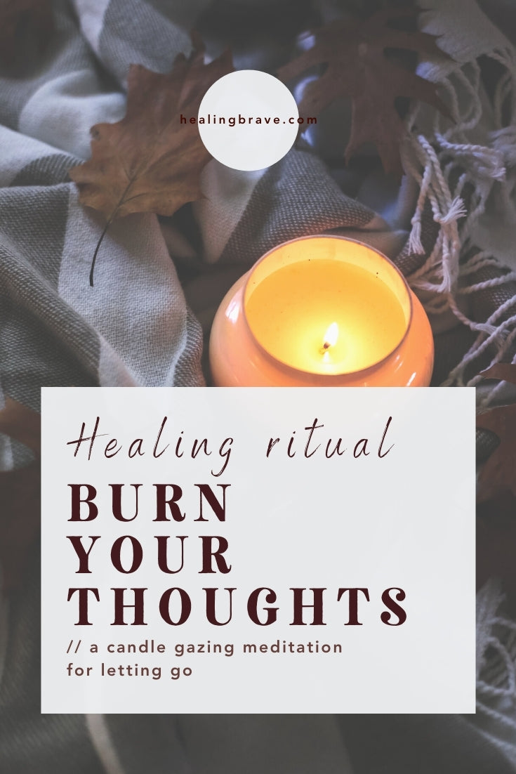 Here's an enchanting candle gazing meditation that's easy to do and doesn't require a whole lot from you. It's from my book Sleep Rituals, reworked and given an appropriate name: Burn Your Thoughts. Give yourself that mental space — to clear away whatever isn't letting you be fully in the moment, or fully in your life.