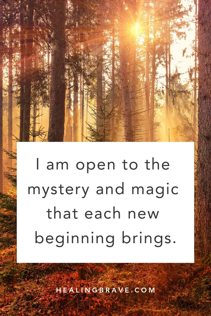 Here's to new beginnings, the kind that keep hope alive. Here's to the beauty and magic that a fresh new start brings. To stepping into the unknown and trusting that you'll make it through. Read this affirmation and tell yourself what you need to hear: you can, and you will.