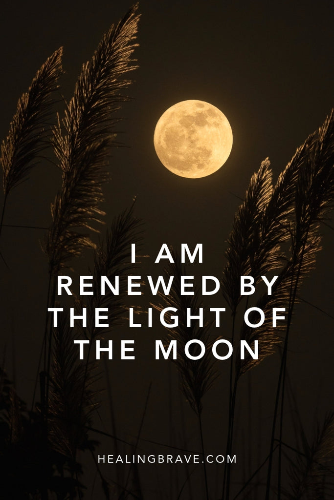Meditating on the moon is at once grounding and uplifting. With your body resting on the earth and your eyes to the sky, it's hard not to feel lifted out of your worries, plucked from your grievances, and planted firmly in the knowing that life on earth is a gift.