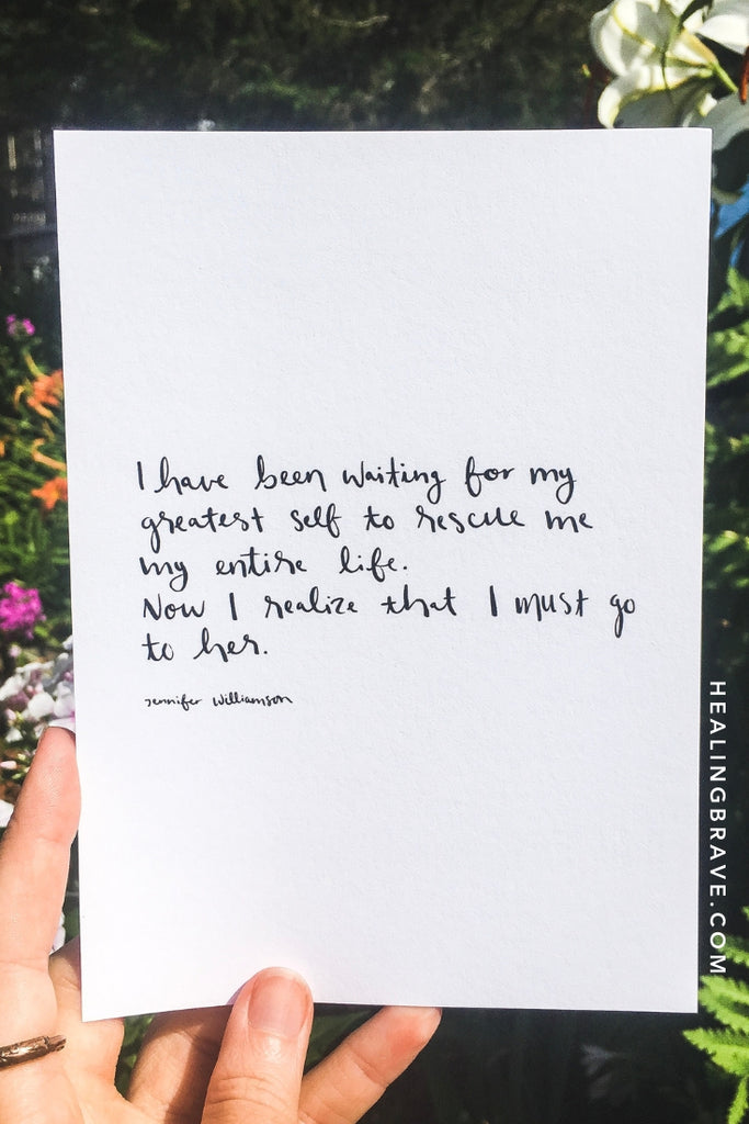 """I Must Go To Her"" Handwritten Poetry Print - one of the new prints I made for August. Because the start of a new month is always a good time to take ownership of your life. Here's to transformation of the best kind."