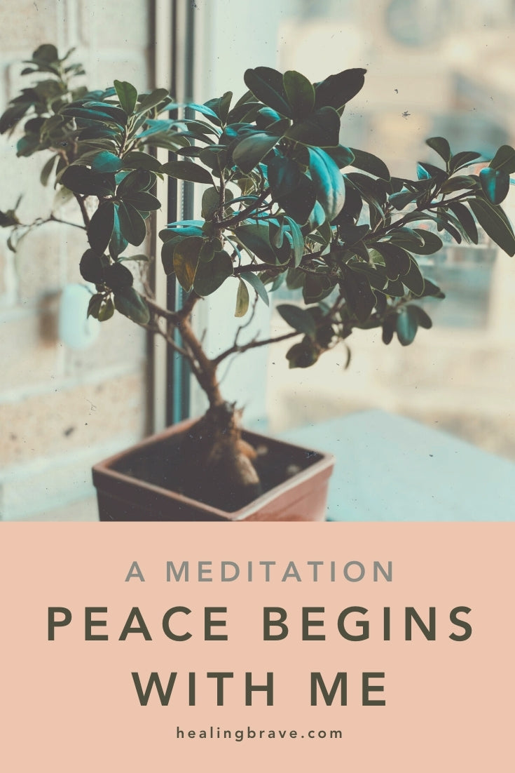 """""""Peace begins with me."""" It's a way of living. Try this short mantra meditation next time you feel stuck in a situation that's anything but peaceful. When you want to take what you've been giving and give back differently. It'll help you press the Reset button so you can live the way *you* want to, no matter what's happening."""