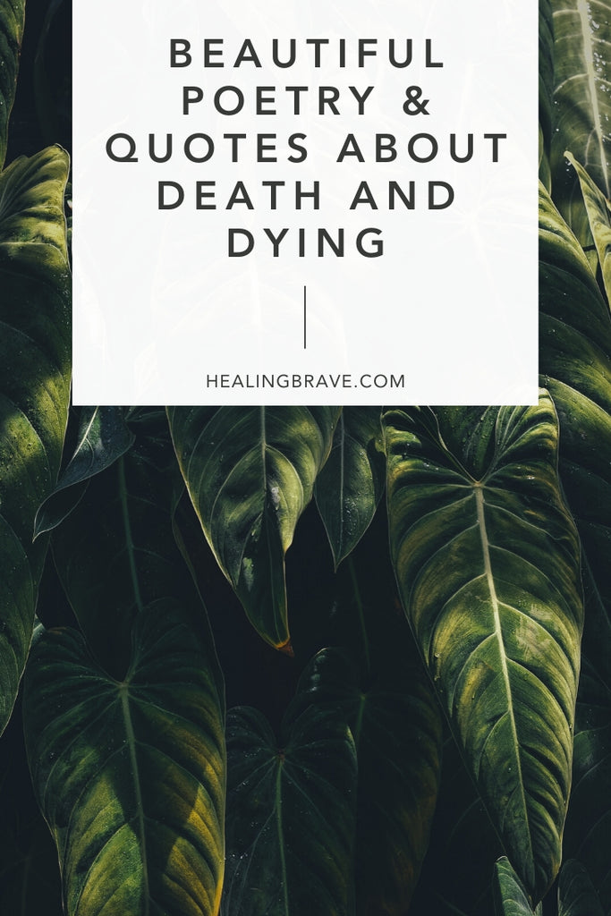 "Thinking about death doesn't need to be something we live our lives avoiding. There's a great fear of dying, but if we talk about it, and listen, we'd hear the truth: that ""mostly it is loss which teaches us about the worth of things."" It's why I find solace in these quotes about death and dying, and hope you will too."