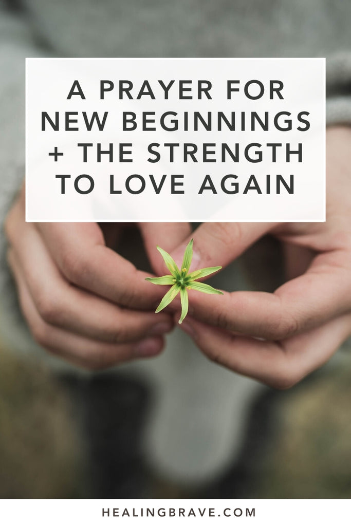 May we have the courage to greet each new beginning (and each decision) with an open heart. Whether you need to start over or keep going, I hope this prayer inspires you to keep hope alive, to trust in love one more time, and to take care of yourself along the way. The best changes start on the inside, with you.