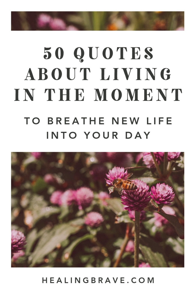 What if this moment was enough? Not what's happening around you, but the peace underneath all the noise and movement. If you're tired of running from one to-do to the next, read these quotes about living in the moment and remember: you are enough too.
