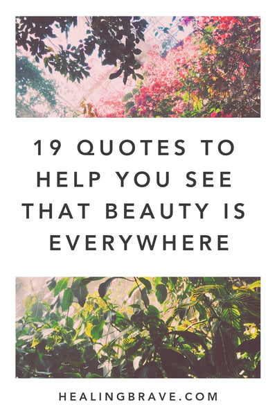 19 Quotes To Help You See That Beauty Is Everywhere Healing Brave