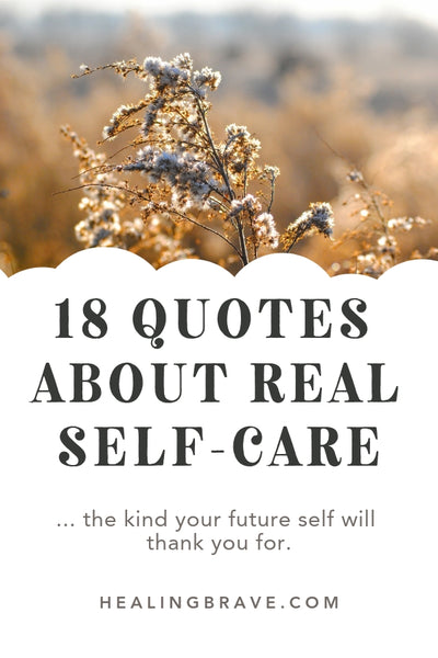 Surprise: each of these quotes about self-care are from my new book, Sleep Rituals, which happens to be about more than getting a good night's sleep: it's a self-care menu. Basically, you're asking yourself how you can help your future self and that, in itself, is a recipe for a nice, long moment of real rest. (Sweet relief)