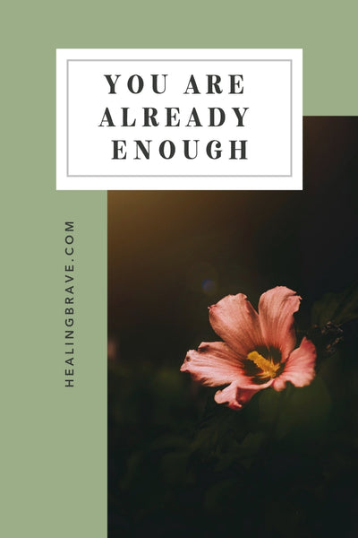 Pretend you are already enough. Keep nurturing that belief, accepting that wisdom, building from that foundation. When you slow down negative thinking, you can better face your current reality with a clear mind, a full heart, and a fresh perspective that leaves room for something new to work its way into your future.