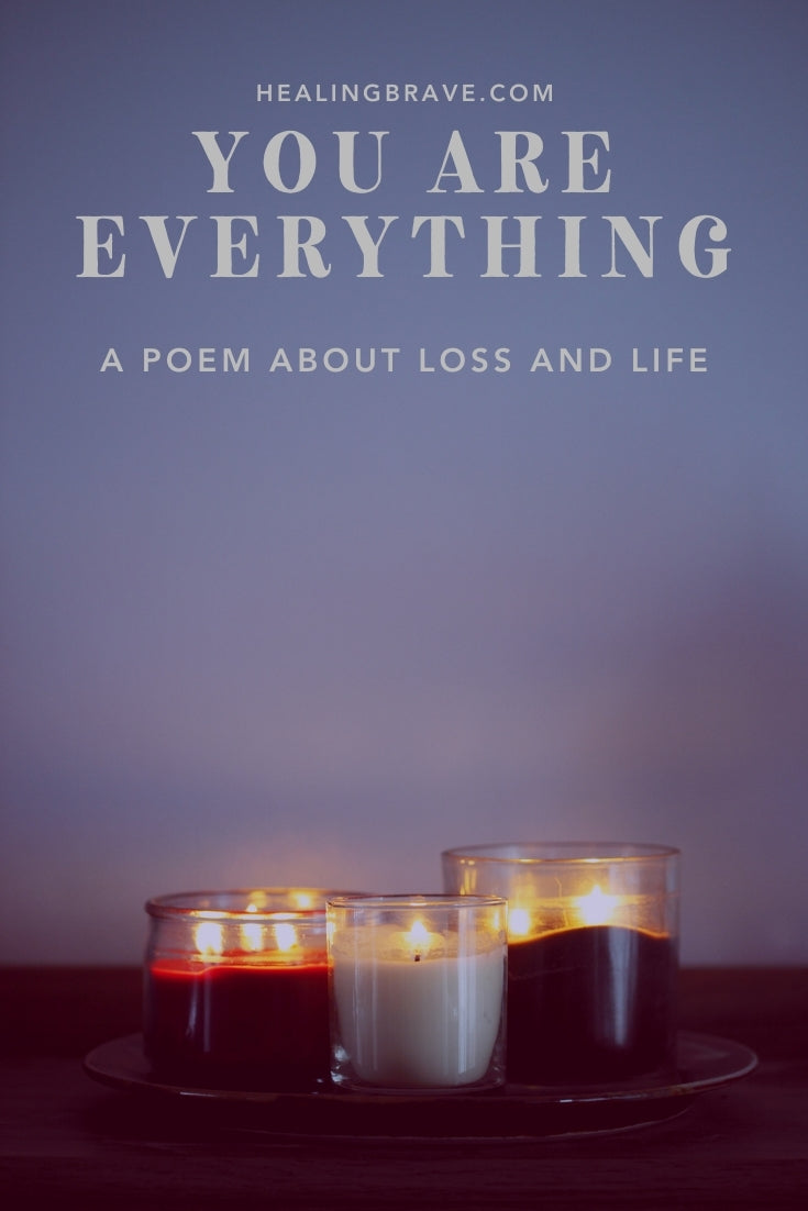 This is a poem about loss but also life. It's an understanding that maybe life is actually a continuation, and it never stops at all. Maybe it's an everlasting tapestry that's woven all the time, filled with beginnings and endings, births and deaths, and whatever it is that doesn't end.