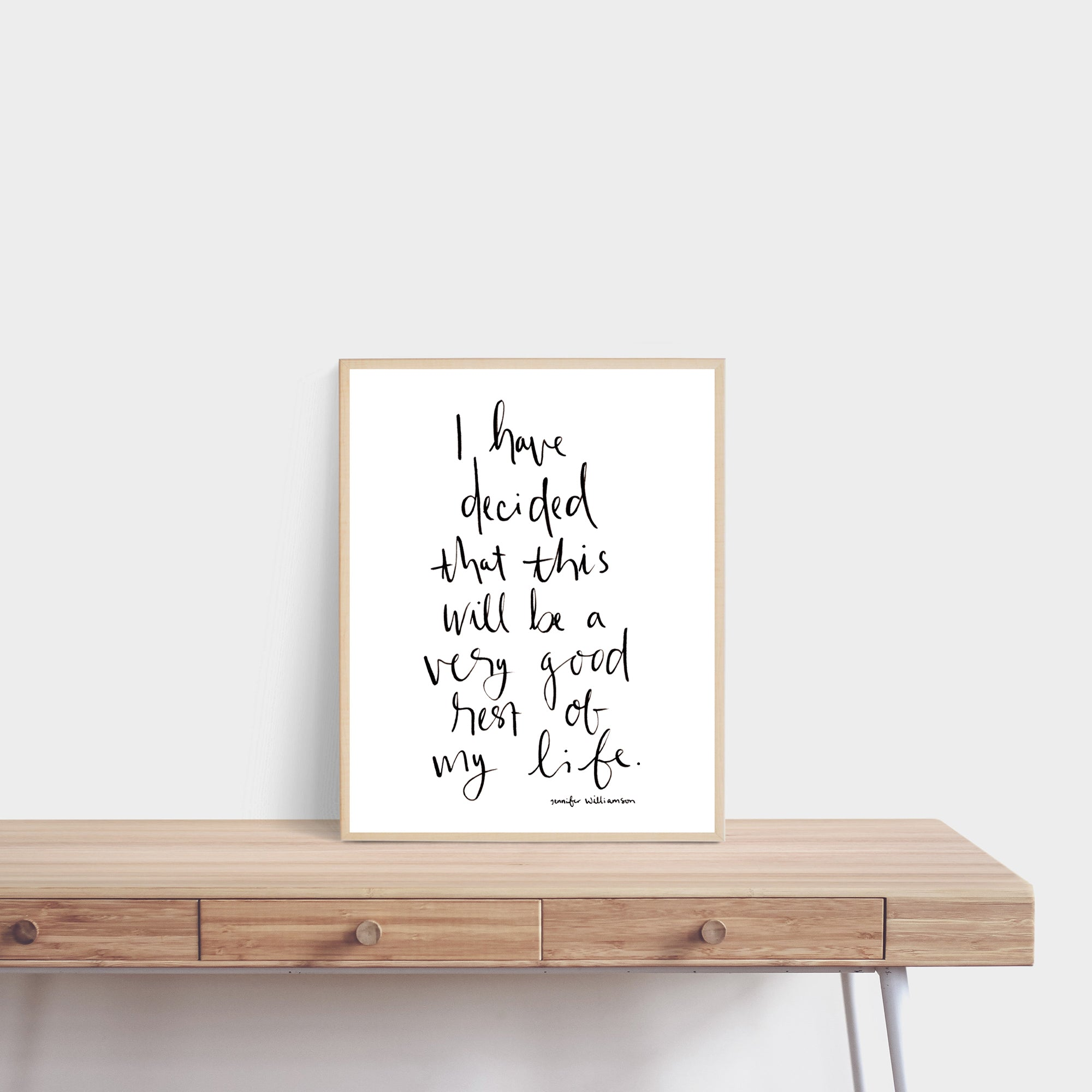 A Very Good Rest Of My Life Hand Lettered Affirmation Art Print