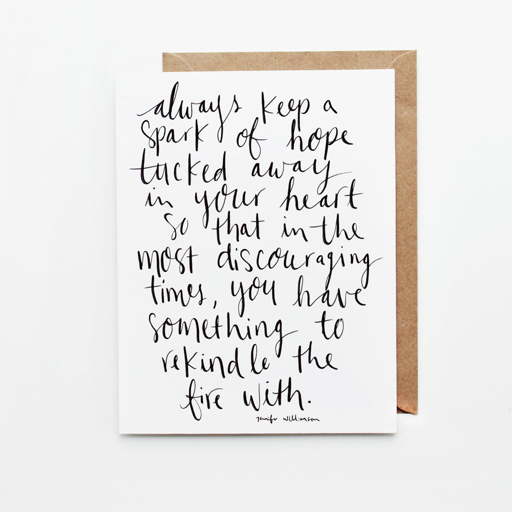 Always Keep Hope Hand Lettered Poetry Encouragement Card