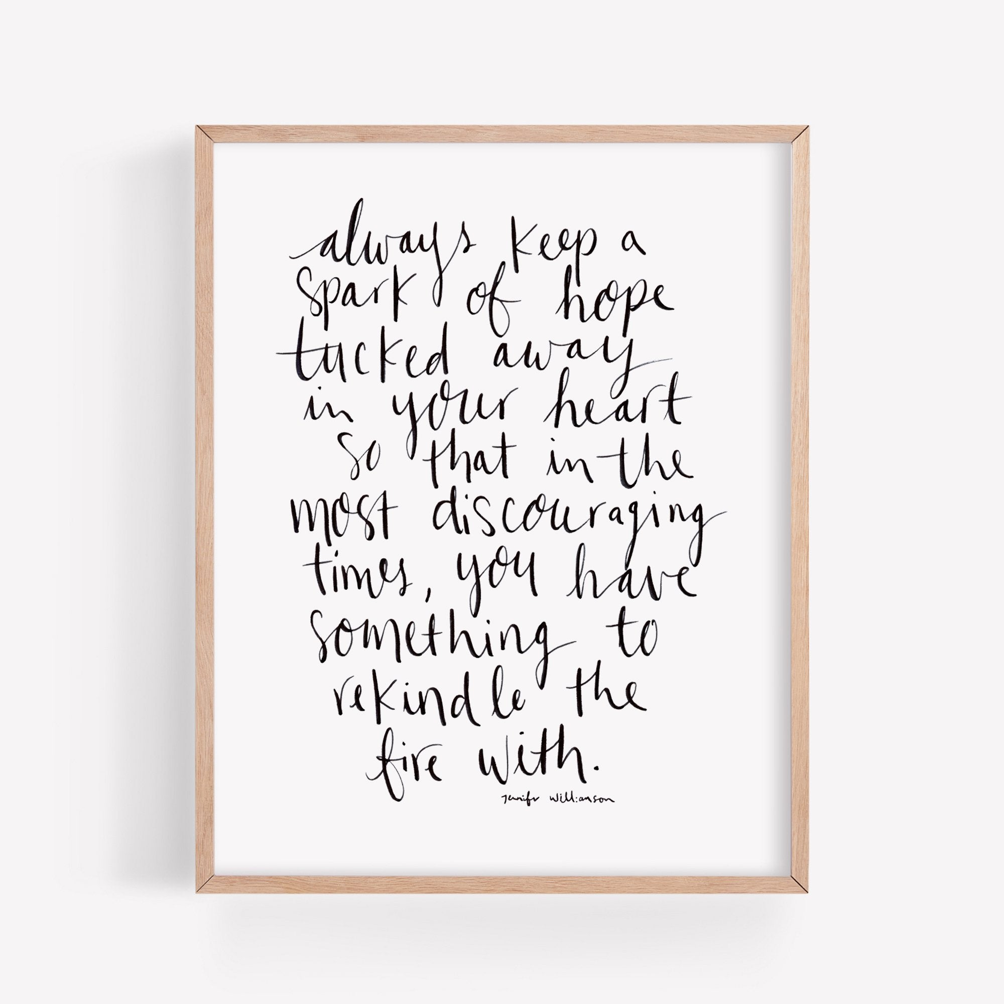 Always Keep Hope Hand Lettered Poetry Art Print