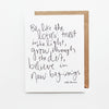 Be Like The Lotus Hand Lettered Poetry Encouragement Card