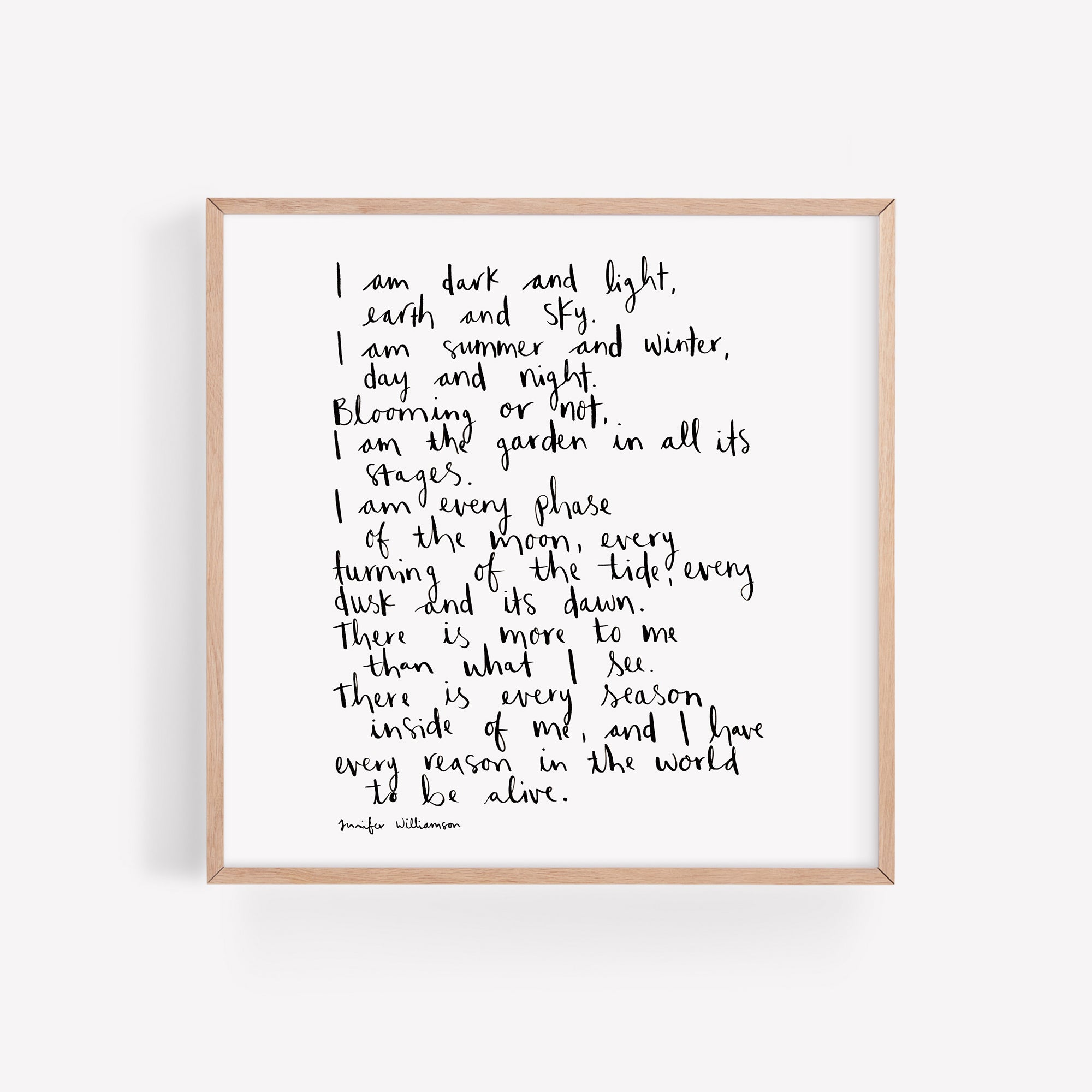 Every Reason In The World To Be Alive Hand Lettered Affirmation Print