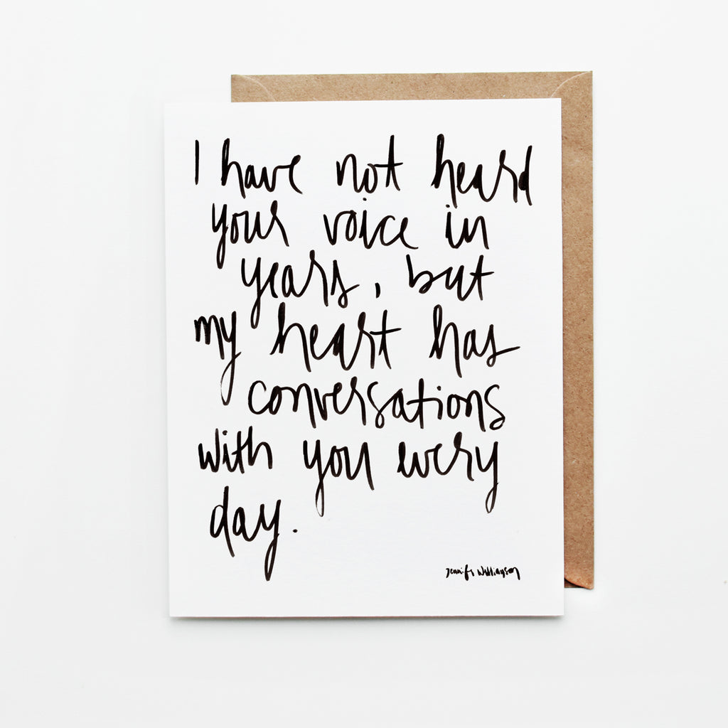 Heart Conversations Hand Lettered Poetry Encouragement Card