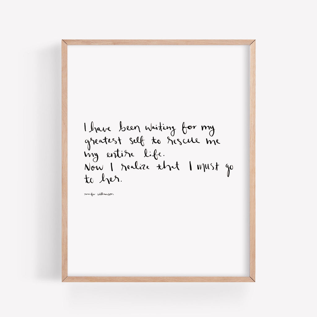I Must Go To Her Hand Lettered Poetry Art Print