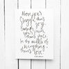 In The Middle Of Everything Hand Lettered Poetry Encouragement Card