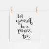 Let Yourself Be A Process Hand Lettered Word Art Print