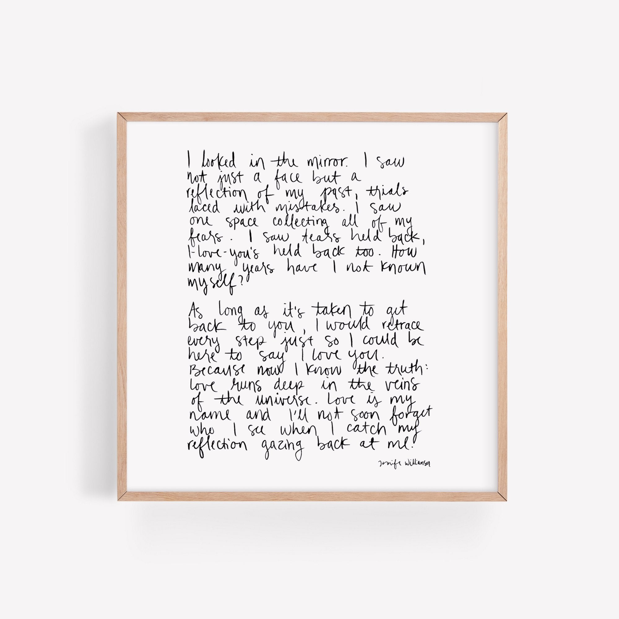 Self Love Hand Lettered Poetry Art Print