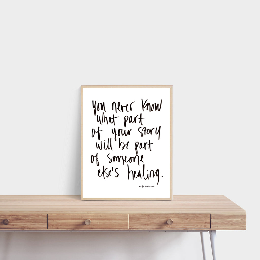 Sharing Is Healing Hand Lettered Word Art Print