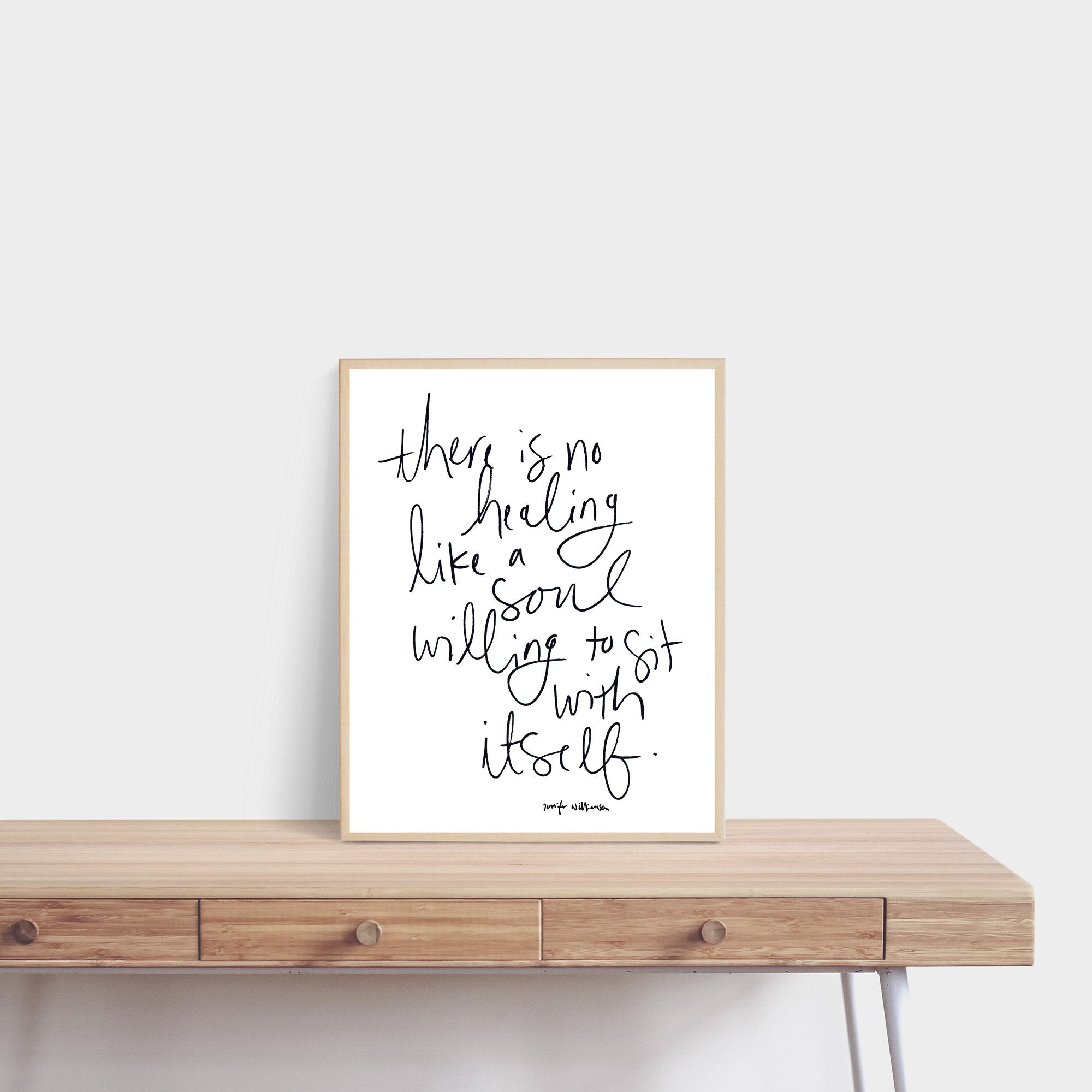 Soul Medicine Hand Lettered Poetry Art Print